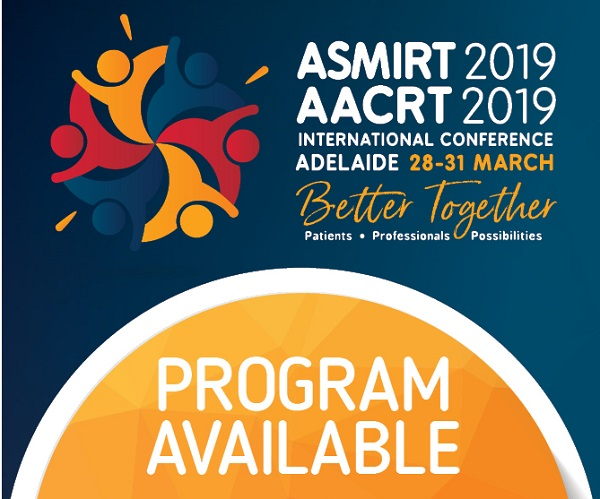 AACRT CONFERENCE 2019 - Patients/Professionals/Possibilities