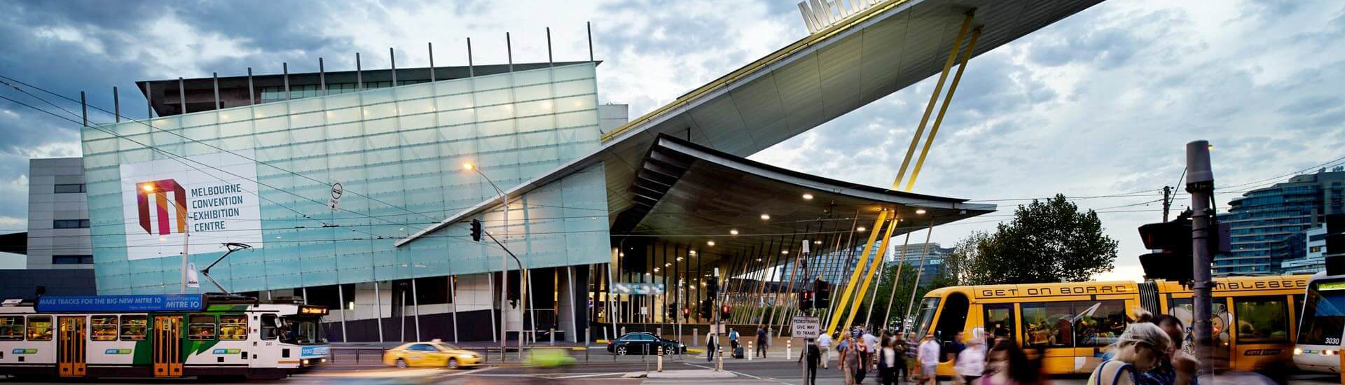 MCEC EXTERNAL - MEC Entrance - Photographic credit: Earl Carter